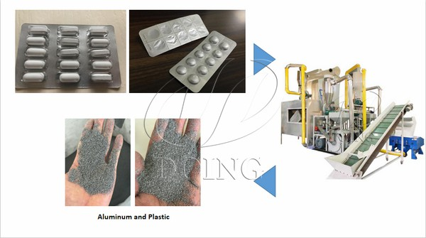 drug packaging recycling process