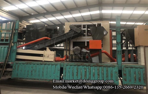 One set aluminum plastic recycling machine for the Guangdong customer for delivery