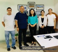 Philippine customers came to DOING to inspect plastic and aluminum recycling machine