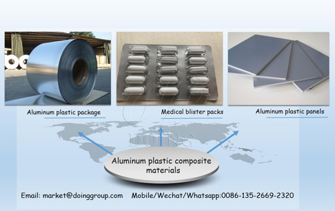 What kinds of materials can be recycled by aluminum plastic recycling plant?